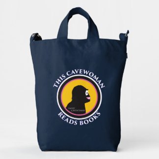 Smart Cavewoman: Read Books and Move Ahead Tote Ba Duck Bag