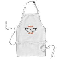 Smart Chick Geek Eyeglasses Adult Apron