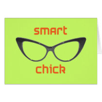 Smart Chick Geek Eyeglasses Card