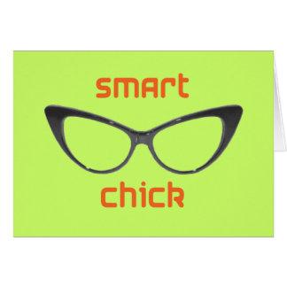 Smart Chick Geek Eyeglasses Card