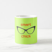 Smart Chick Geek Eyeglasses Coffee Mug