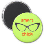 Smart Chick Geek Eyeglasses Magnet