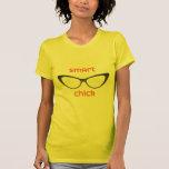 Smart Chick Geek Eyeglasses Tshirt