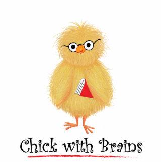 Smart Chick Standing Photo Sculpture