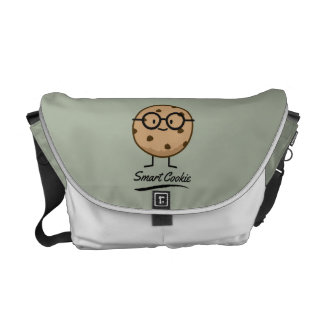 Smart Cookie Chocolate Chip Cookies Glasses Courier Bag