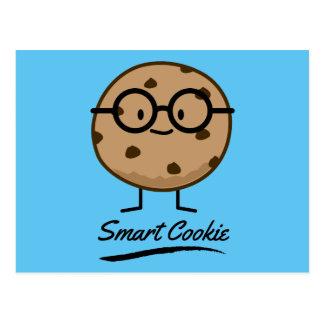 Smart Cookie Chocolate Chip Cookies Glasses Postcard