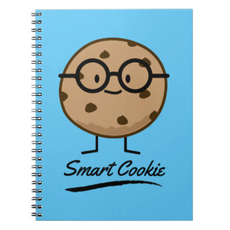 Smart Cookie Chocolate Chip Cookies Glasses Spiral Notebook