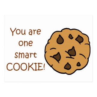 Smart Cookie - Funny Quote Postcard