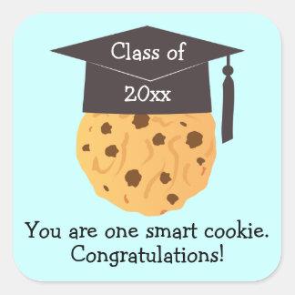 Smart Cookie Graduation Favors Square Sticker