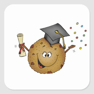 Smart Cookie Graduation Gift Square Sticker