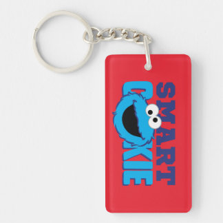 Smart Cookie Monster Double-Sided Rectangular Acrylic Keychain