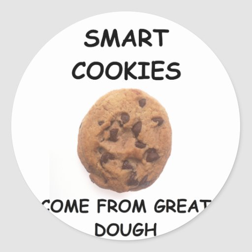 smart cookies classic round sticker