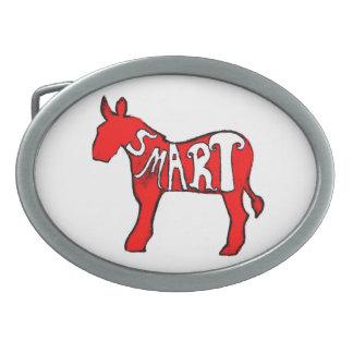 Smart Democratic Donkey Oval Belt Buckle