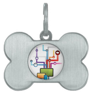 Smart Device Network Map Pet ID Tag