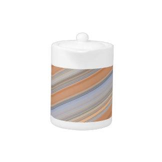 Smart  Diagonal Pale Colour Teapot