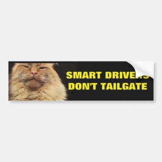 Smart Drivers Don't Tailgate. Mean Cat Bumper Sticker