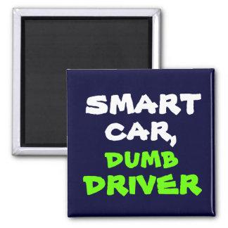 smart, dumb, car,, driver magnets