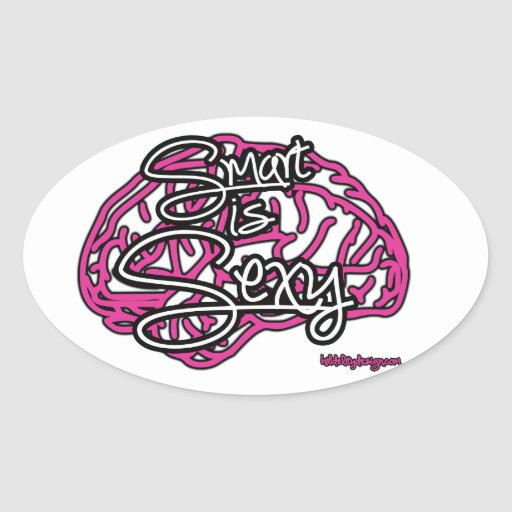 Smart es atractivo pegatina ovalada