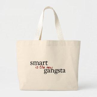 Smart es el nuevo Gangsta Bolsa De Tela Grande
