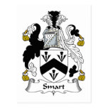 Smart Family Crest Post Card
