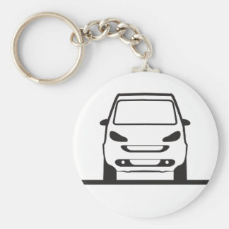 Smart Fortwo Front Basic Round Button Keychain