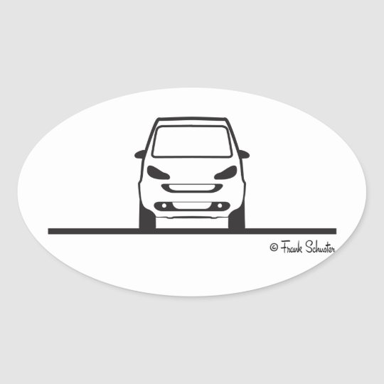 Smart Fortwo Front Oval Sticker