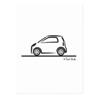 Smart Fortwo Side Postcards