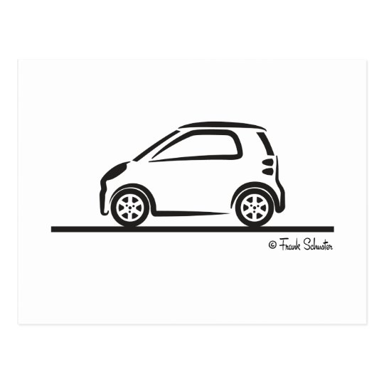 Smart Fortwo Side Postcard