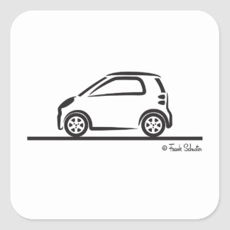 Smart Fortwo Side Square Sticker