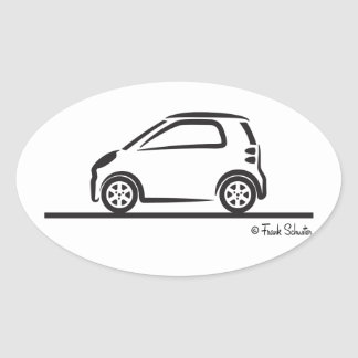 Smart Fortwo Side Oval Sticker