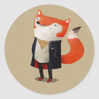Smart Fox Classic Round Sticker