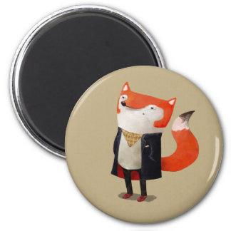 Smart Fox Fridge Magnet