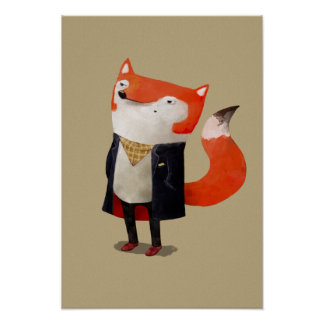 Smart Fox Print