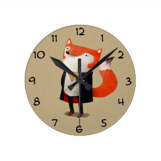 Smart Fox Round Clock