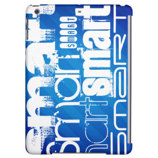 Smart; Funny Royal Blue Stripes iPad Air Case