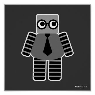 Smart Geek Robot Poster