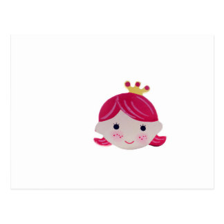 smart girl cute smile kawai postcard