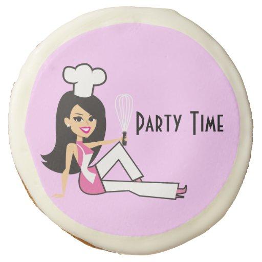 Smart girl retro cartoon on customizable cookies sugar cookie zazzle - Five smart uses of sugar ...