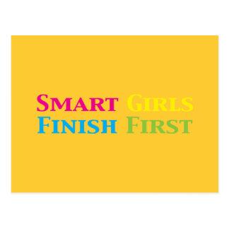 Smart Girls Finish First Gifts Postcard