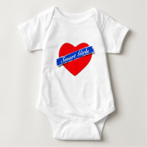 Smart Girls Heart Logo Baby Bodysuit