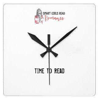 Smart Girls Read Romance Time to Read Clock