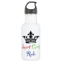 Smart Girls Rule...with Crown Stainless Steel Water Bottle