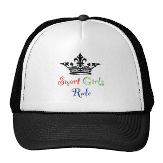 Smart Girls Rule...with Crown Trucker Hat