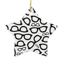 Smart Glasses Pattern Ceramic Ornament