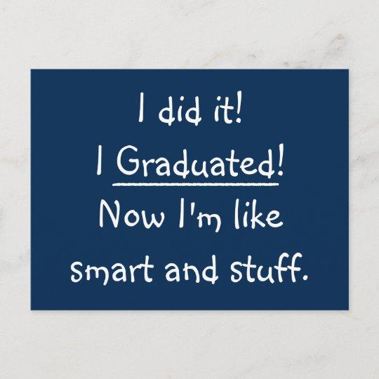 Smart Grad Funny Graduation Party Invitation Card Zazzle Com