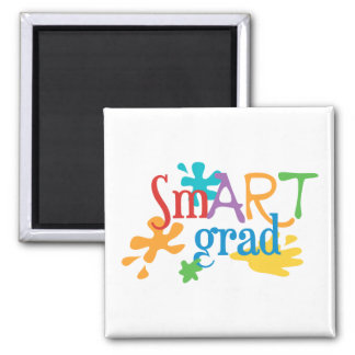 SmART Graduate - Art Major, Art Student 2 Inch Square Magnet