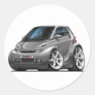 Smart Grey Car Classic Round Sticker