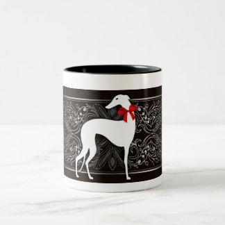 Smart greyhound Two-Tone coffee mug