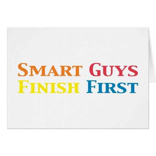 Smart Guys Finish First Gifts Card