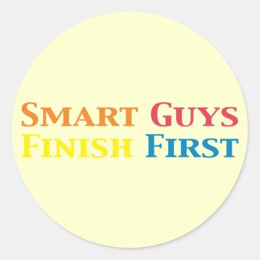 Smart Guys Finish First Gifts Classic Round Sticker